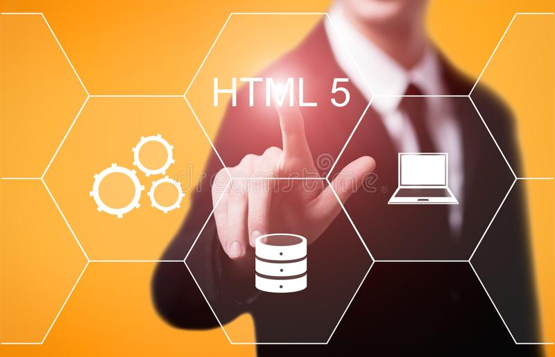 HTML Programming Language Web Development Coding Concept stock images