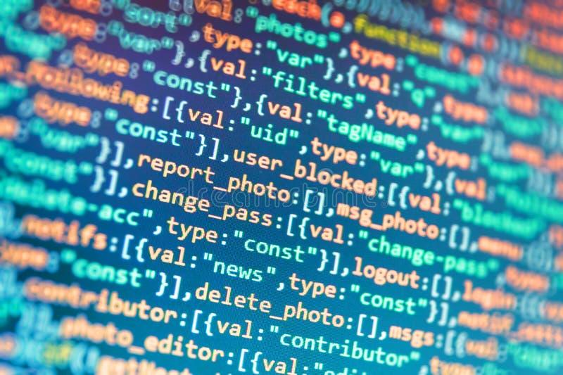 HTML5 in redattore per lo sviluppatore del sito Web fotografia stock libera da diritti