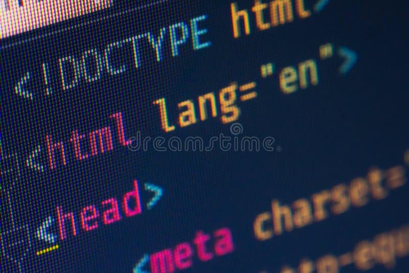 HTML-Titelaufschlag, Makro stockbilder