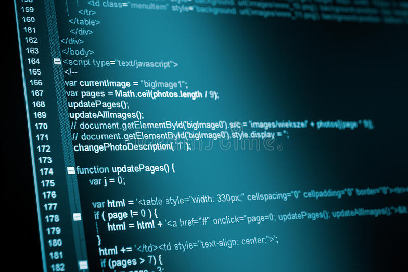 HTML Web Code Stock Photography