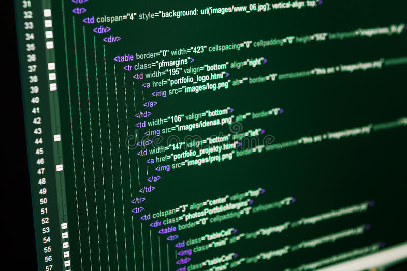 Download HTML web code stock photo. Image of code, cyberspace - 36917882