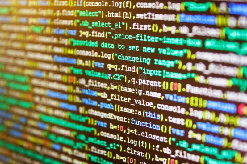HTML-websitestructuur De projectleiders werken nieuw idee stock afbeeldingen