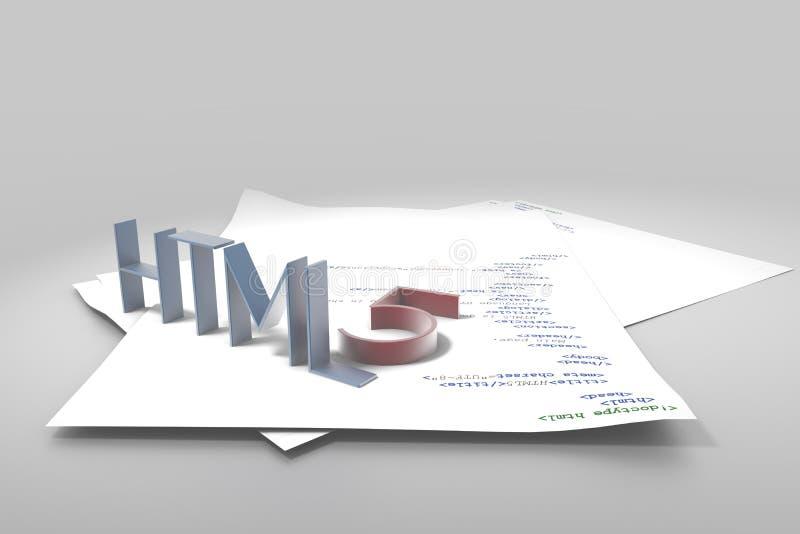 HTML5 ilustração royalty free