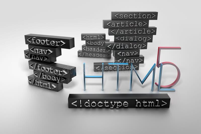 HTML5 illustrazione vettoriale