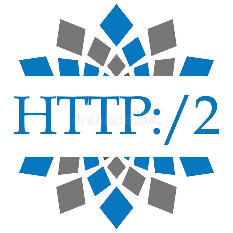 HTTP 2 Blue Grey Circular stock illustration