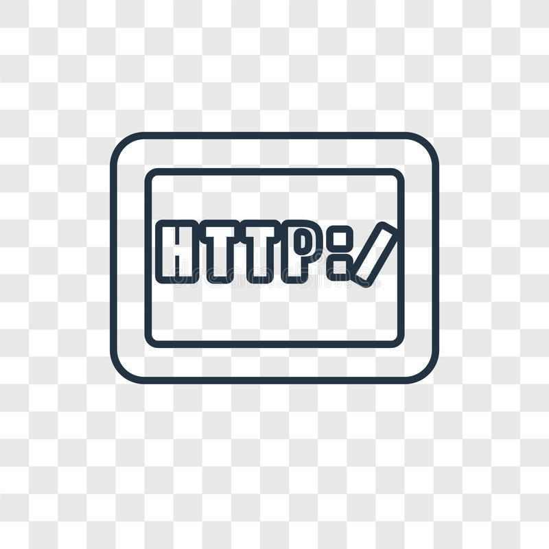 Http concept vector linear icon isolated on transparent background, Http concept transparency logo in outline style royalty free illustration