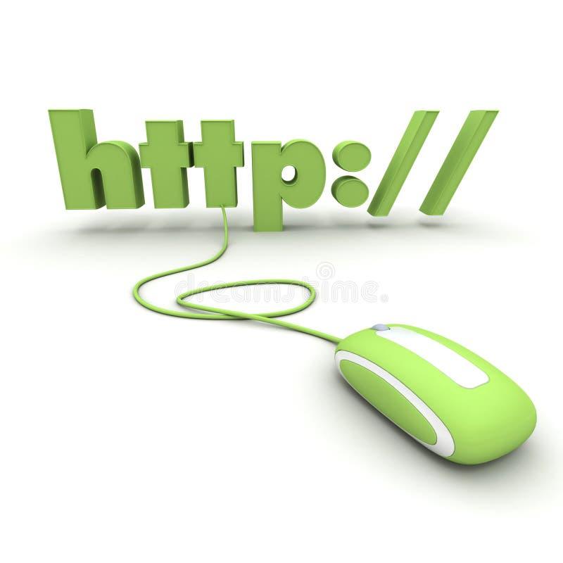 HTTP conectado con un ratón stock de ilustración