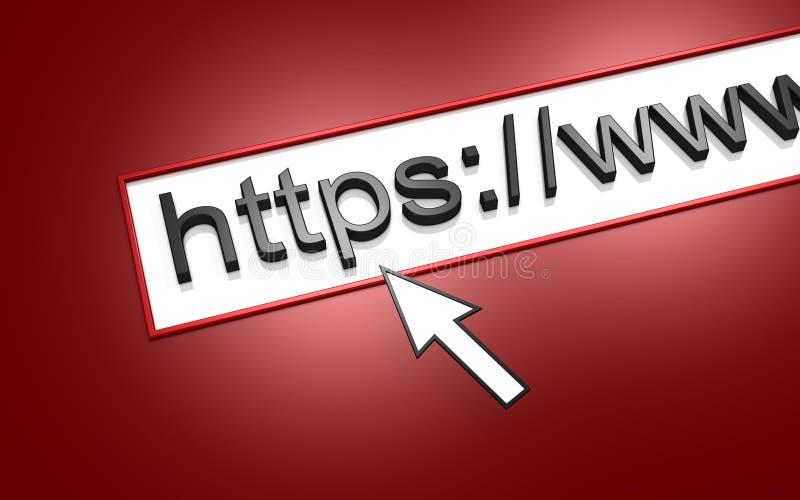 HTTP do endereço do Web ilustração royalty free