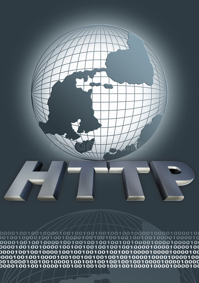 HTTP do Web ilustração royalty free