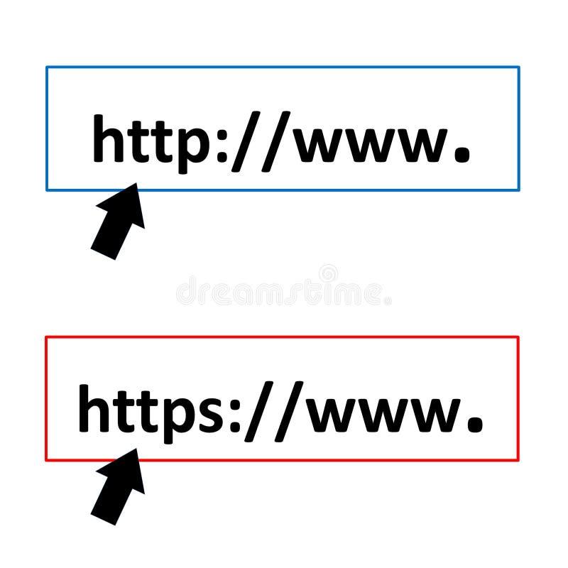 HTTP e https ilustração do vetor