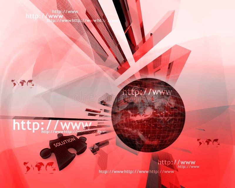 HTTP en www theme008 vector illustratie