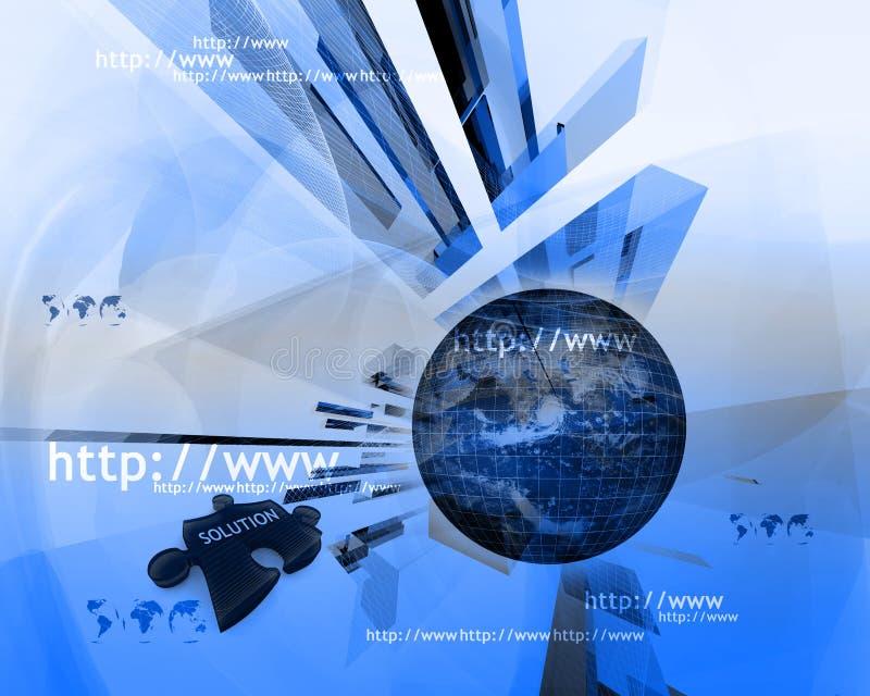 HTTP et WWW theme004 illustration de vecteur