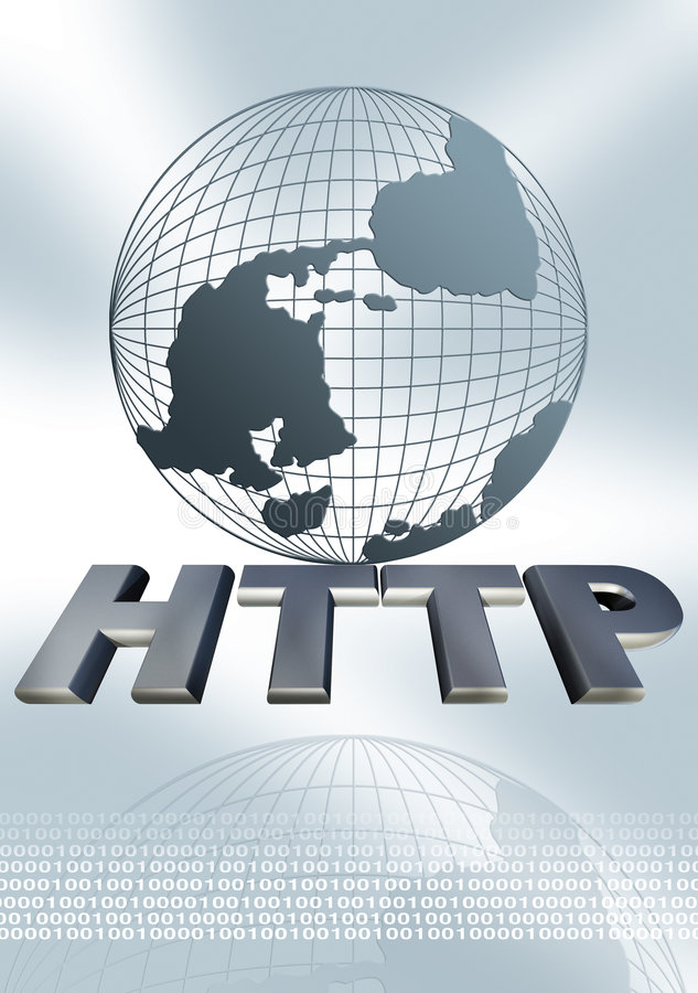 HTTP globe royalty free illustration