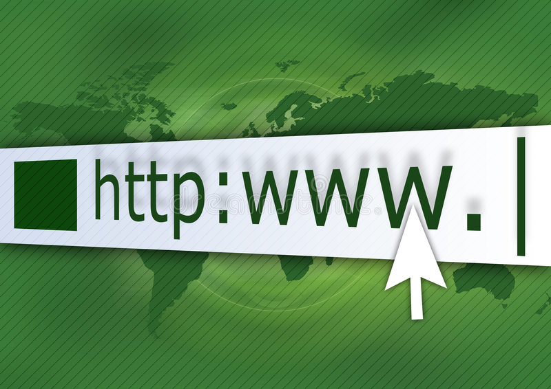 HTTP Green royalty free illustration