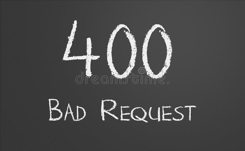 HTTP Status code 400 Bad Request stock image