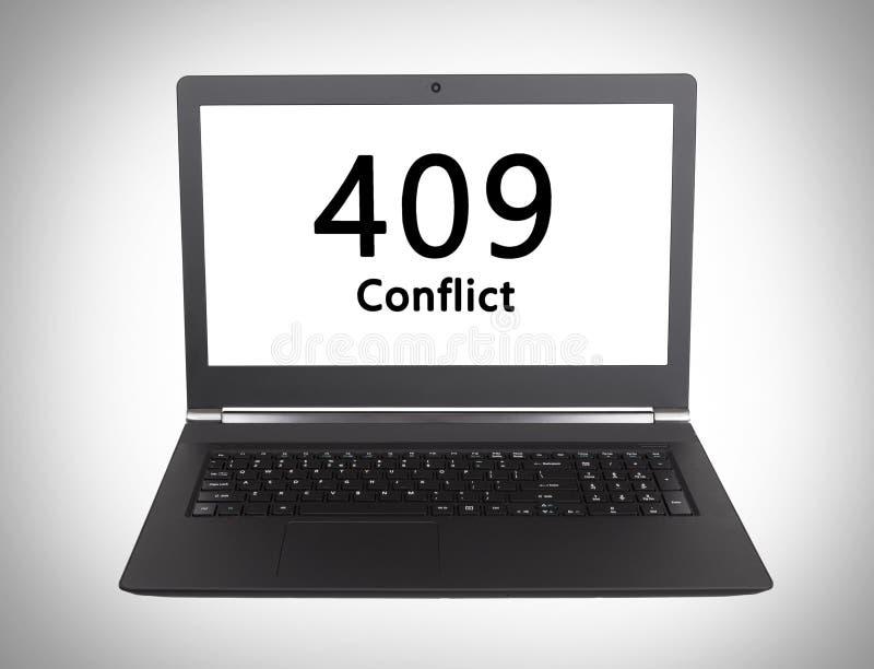 Http-statuskod - 409, konflikt royaltyfria foton
