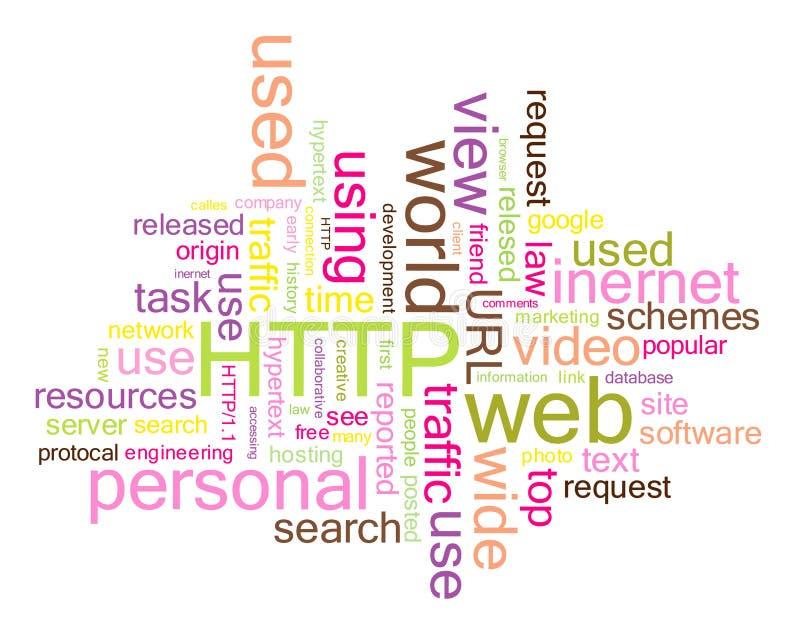 HTTP-Wortwolke stock abbildung