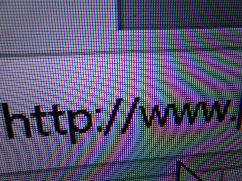 Http://www dans la barre d'adresse du navigateur d'Internet image stock