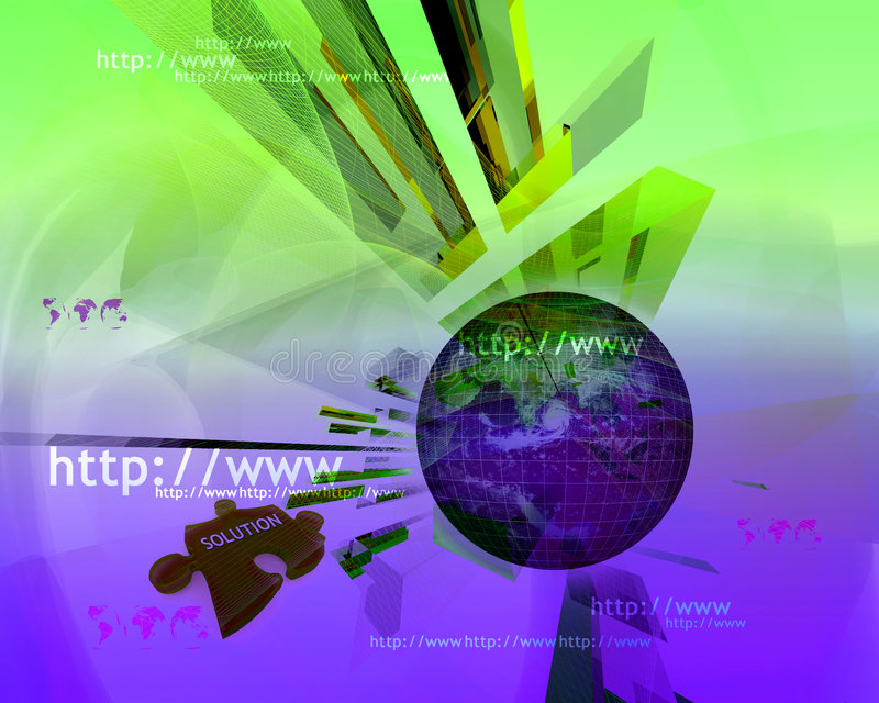 Http and www theme006 royalty free stock image