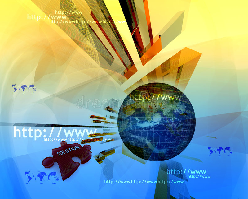 Http and www theme007 royalty free illustration