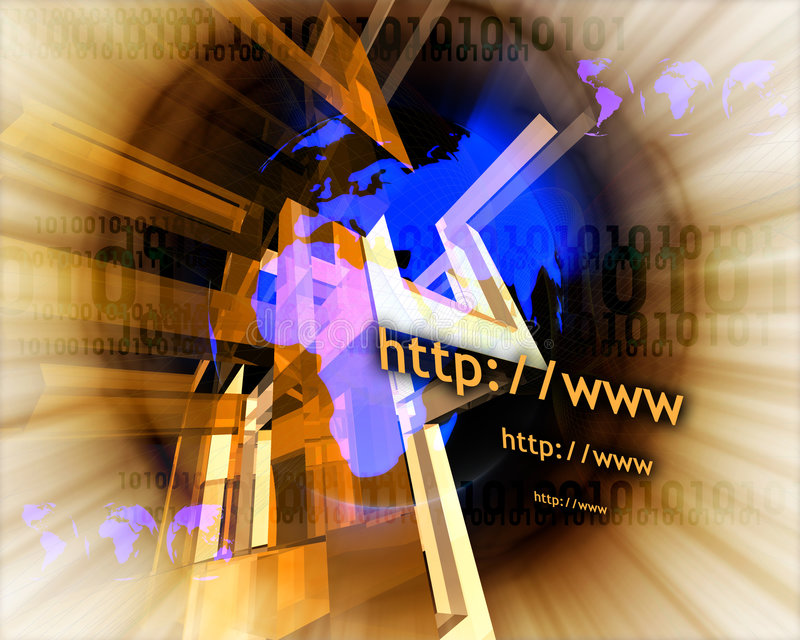 Http and www theme012 stock illustration