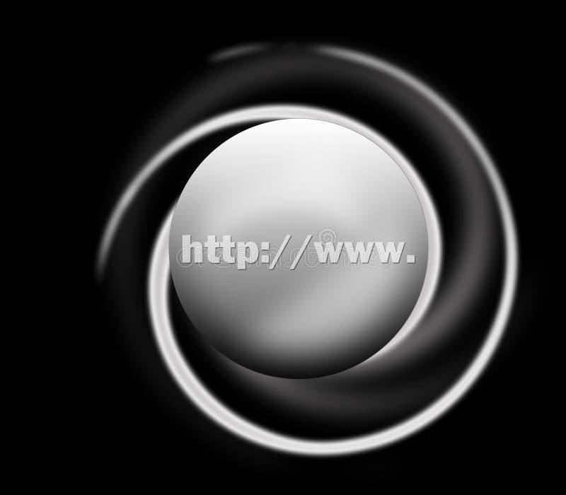 Http www for website address. On black stock illustration
