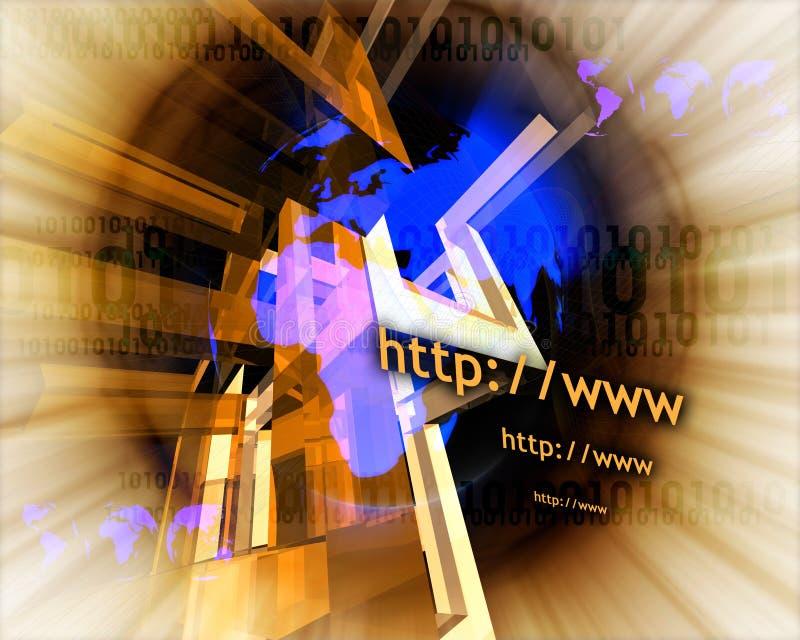 HTTP y WWW theme012 stock de ilustración