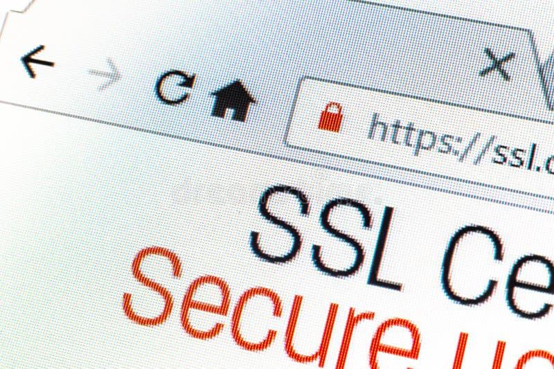 Https网址和锁标志 免版税库存照片