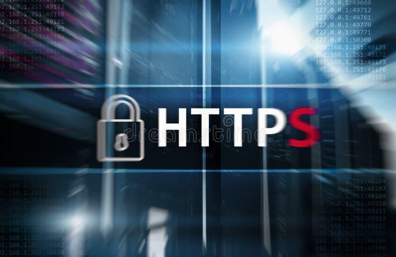 HTTPS, безопасный протокол передачи данных используемый на Всемирном Вебе стоковая фотография rf