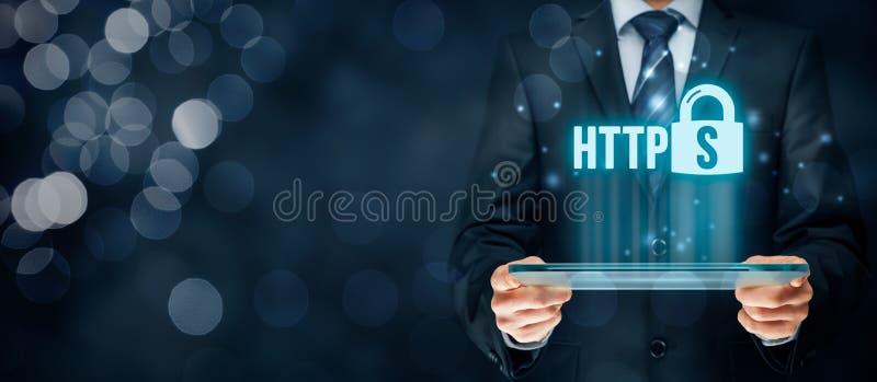 HTTPS concept vector illustration