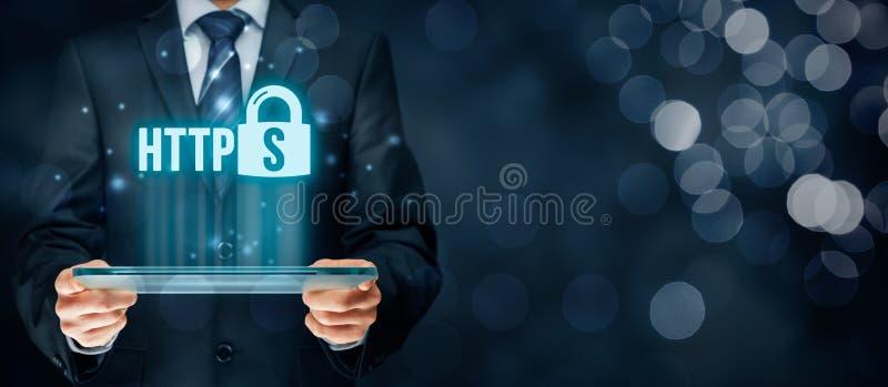 HTTPS-Konzept stockbilder