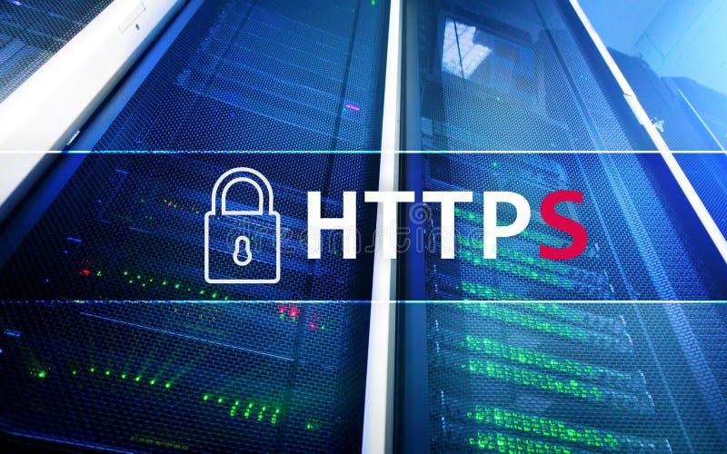 HTTPS, protocole sûr de transfert des données utilisé sur le World Wide Web image stock