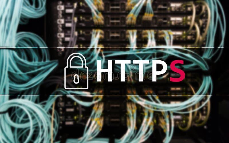 HTTPS, protocollo sicuro del trasferimento di dati usato sul World Wide Web fotografie stock libere da diritti