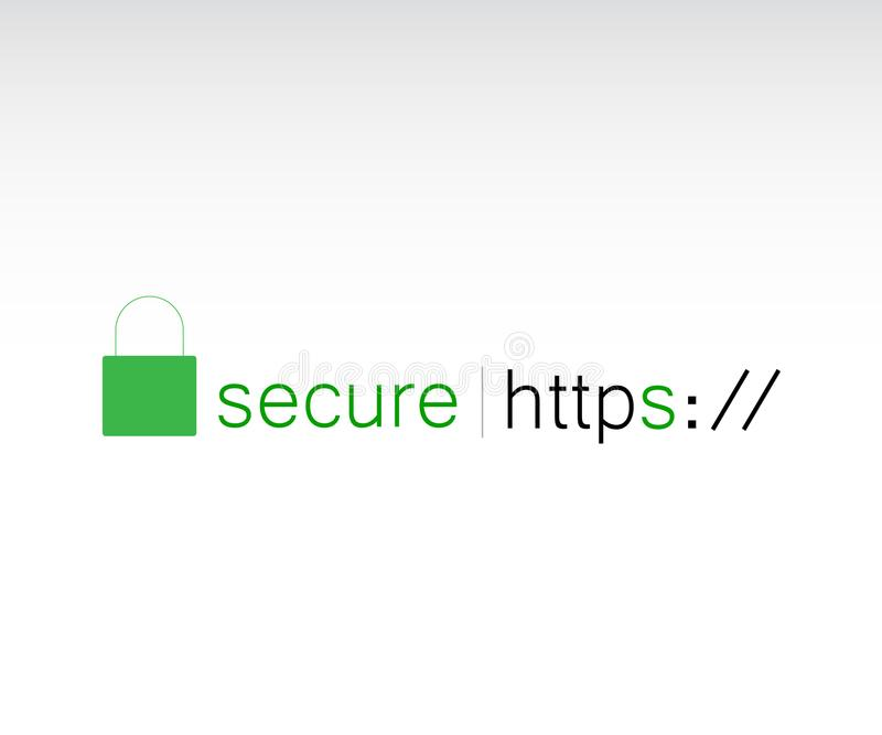 HTTPS-Protokoll vektor abbildung