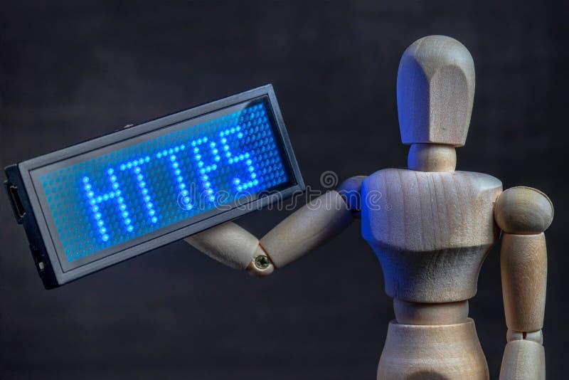 Https sûrs de protocole de transfert des textes hyper image stock