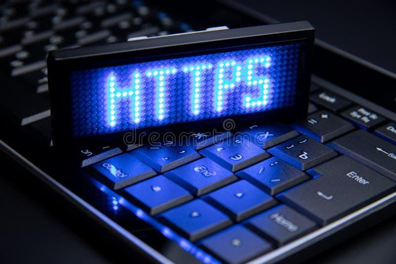 Https sûrs de protocole de transfert des textes hyper image libre de droits