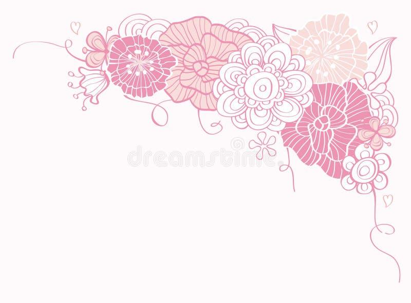 Huésped de día floral con estilo de la tarjeta del día de San Valentín stock de ilustración