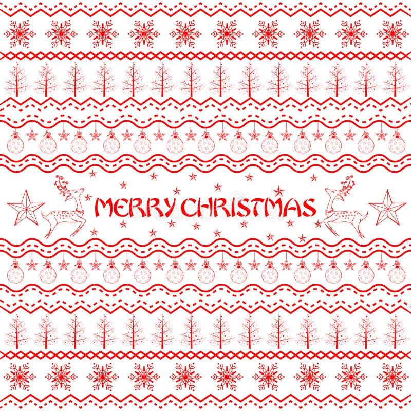 Huésped de la decoración de la Navidad stock de ilustración