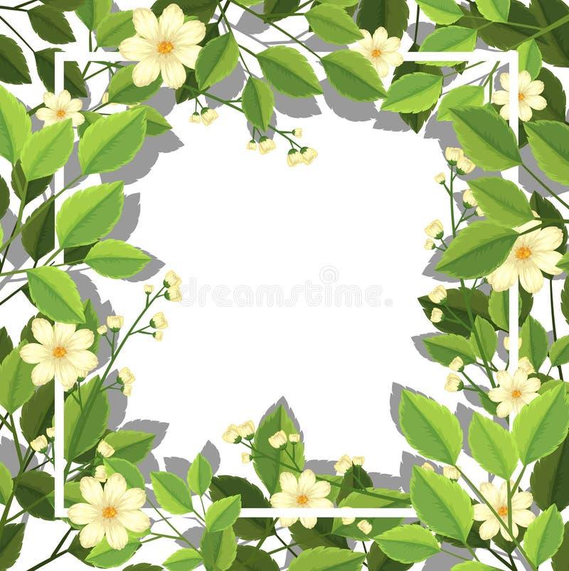 Huésped de la flor y de la hoja stock de ilustración