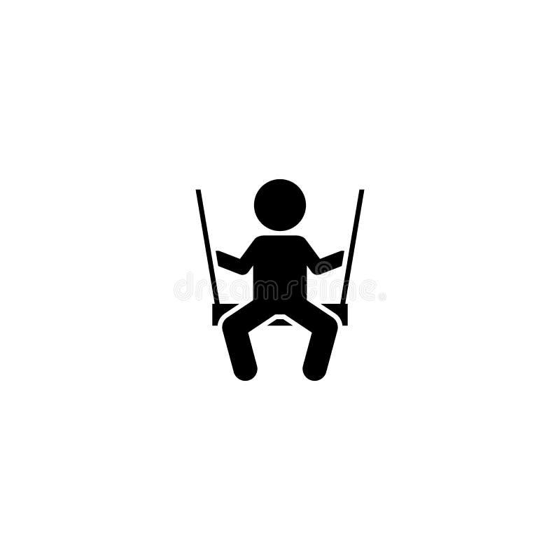 Huśta się, bawi się, kształci, dzieci, chłopiec ikona Element dziecko piktogram Premii ilo?ci graficznego projekta ikona podpisz  ilustracja wektor