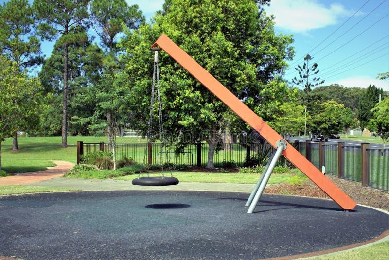 Huśtawka w dzieciaka parku zdjęcia royalty free
