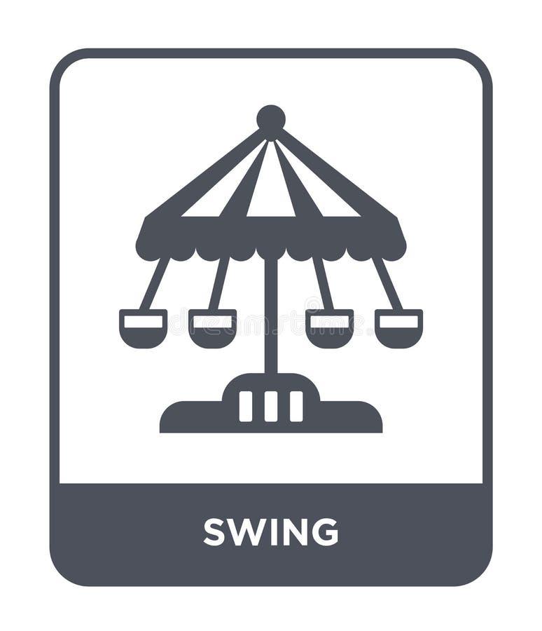 huśtawkowa ikona w modnym projekta stylu huśtawkowa ikona odizolowywająca na białym tle huśtawkowej wektorowej ikony prosty i now ilustracji