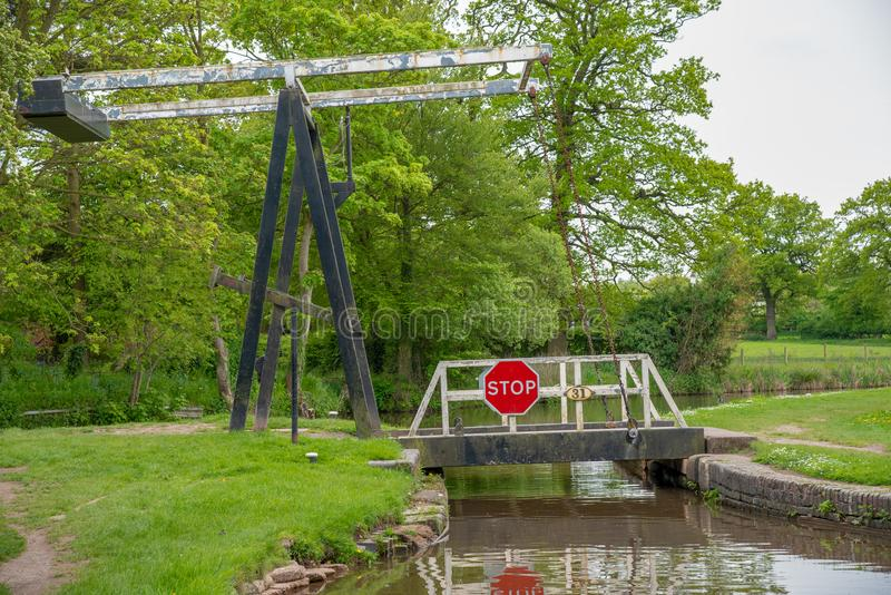 Huśtawkowy most Żadny 31 zdjęcia stock