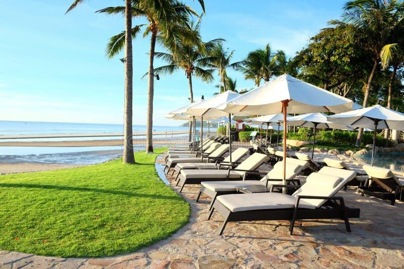 Hua Hin beach side. Hua Hin is popular beach in Thailand, white and smooth sand stock photos