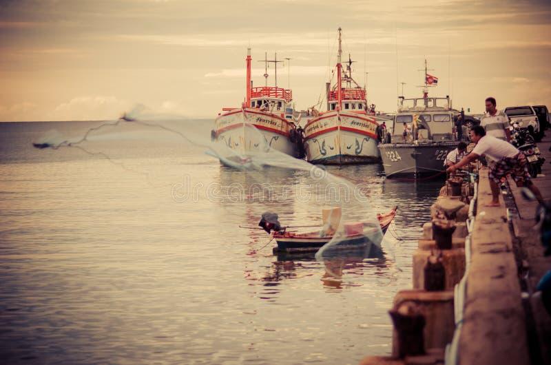 Download Hua Hin fishing boat port editorial image. Image of thailand - 34180415