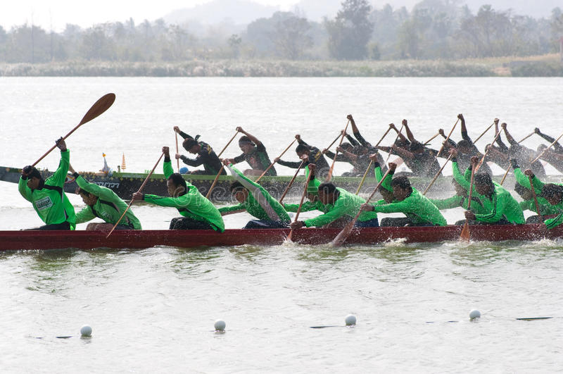 Hua Hin Long Boat Competition 2011 Editorial Stock Image