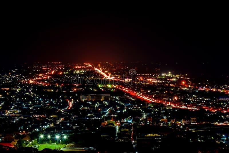 Hua Hin nightscape Thailand royalty free stock photo