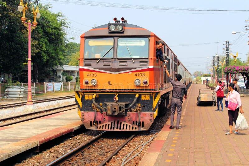 Hua Hin Station, Tailândia - Trsin encadernado sul imagem de stock royalty free