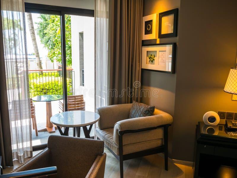 Hua Hin, Tailandia - 23 de junio de 2018: El de cinco estrellas es Hua Hin Marriott Resort y el balneario uno de los hoteles de l fotografía de archivo libre de regalías