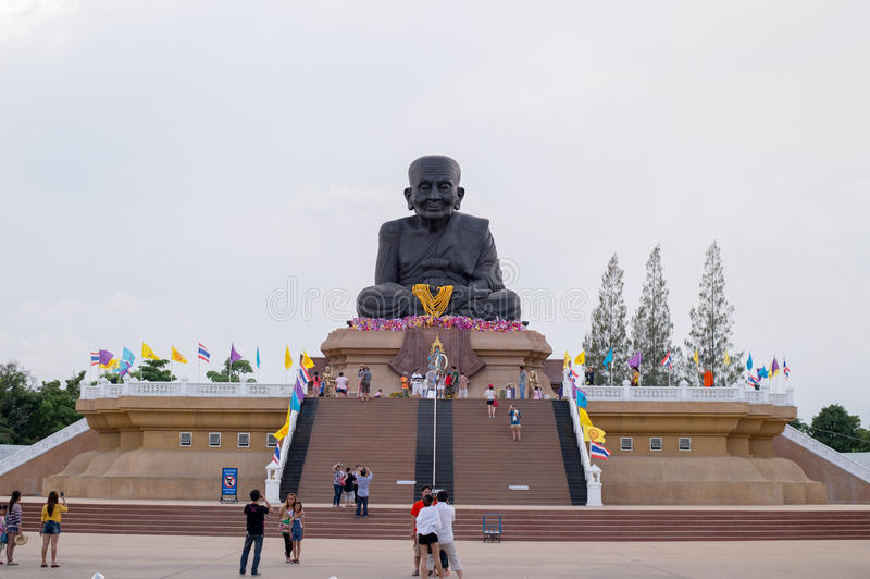 HUA HIN THAILAND - Apr27 , 2015 : Statue of Luang Pu Thuat royalty free stock photo
